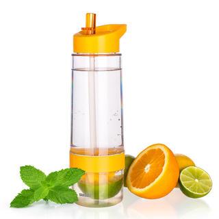 Sportovní lahev SQUEEZY s lisem na citrusy, BANQUET oranžová