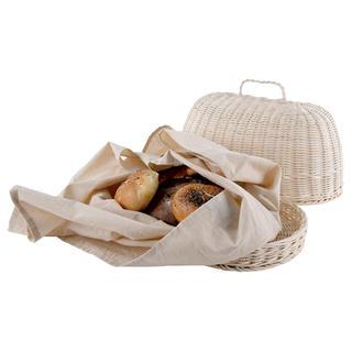 Chlebovka oválná RATTAN s utěrkou