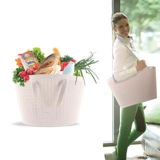 Ratanová taška krémová