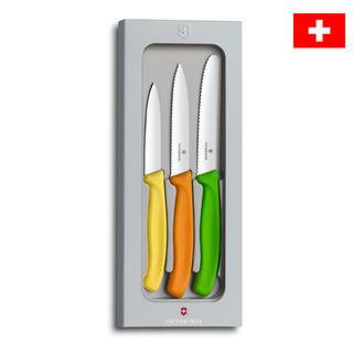 Nerezové kuchyňské nože VICTORINOX s barevnými rukojeťmi 3 ks