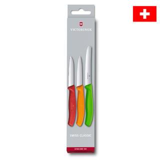 Nerezové kuchyňské nože VICTORINOX SWISS CLASSIC s barevnými rukojeťmi 3 ks