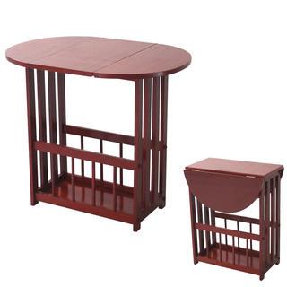 Skládací stolek s přihrádkou na tiskoviny