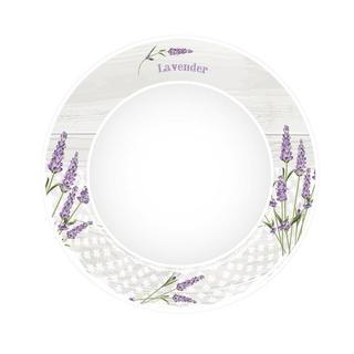 Keramický talíř na polévku Levandule
