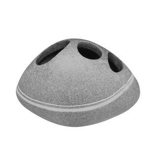 Kelímek na kartáčky Stone šedý