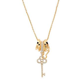 Náhrdélník s přívěškem ve tvaru klíče zlatý