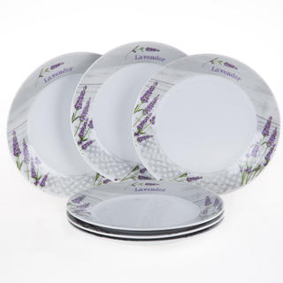 Keramická sada dezertních talířů Levandule, 6 kusů