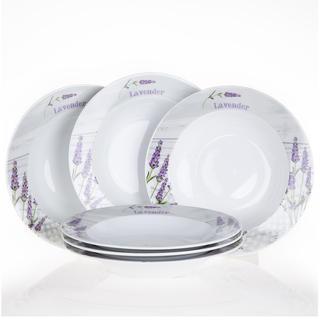 Keramická sada polévkových talířů Levandule, 6 kusů