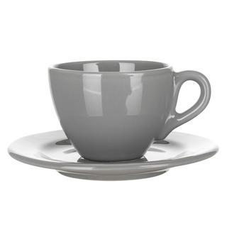 Keramický šálek s podšálkem Amande šedý lesk, BANQUET