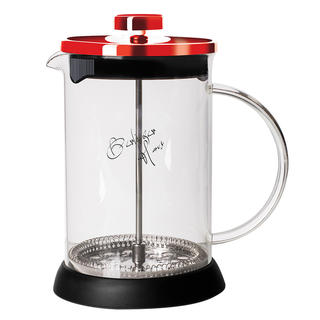 Konvička na čaj a kávu French Press Burgundy Metallic Line 350 ml