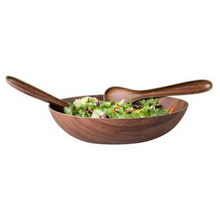 Salátový komplet dekor dřeva