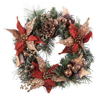 Vánoční věnec zdobený