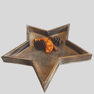 Dřevěný podnos ve tvaru hvězdy