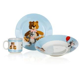Dětská jídelní sada Medvídci 3 ks modrá, BANQUET
