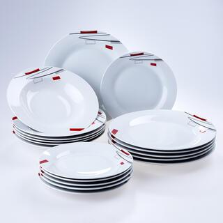 Banquet Porcelánová sada talířů GEOMETRIC 18 ks