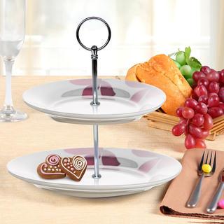 Banquet Stojan na cukroví porcelánový PURPLE 2patrový