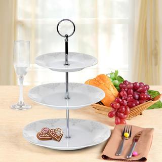 Banquet stojan na cukroví porcelánový BAROCCO 3patrový
