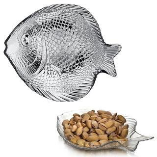 Servírovací skleněný talíř RYBA 19 cm