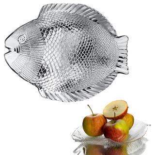 Skleněný servírovací talíř RYBA 26,5 cm