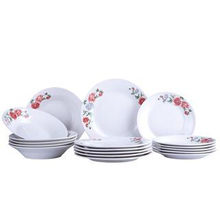 Porcelánová sada talířů PEONIA ROSE 18 ks