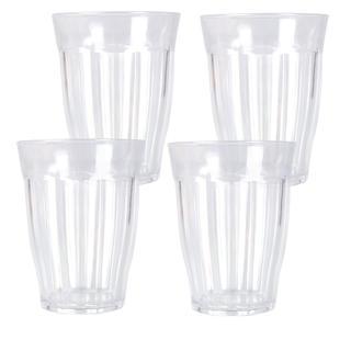 Sada plastových sklenic 4 ks