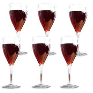 Sada plastových sklenic na víno 6 ks