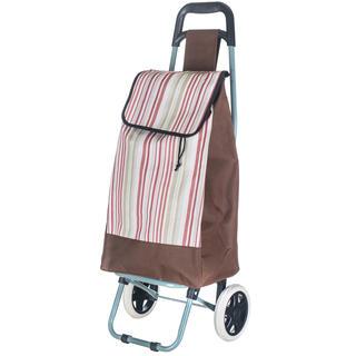 Nákupní taška na kolečkách s proužky
