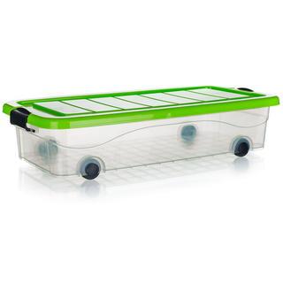 Box úložný pod postel na kolečkách PYRAMIDA Brilanz 30 l, zelený