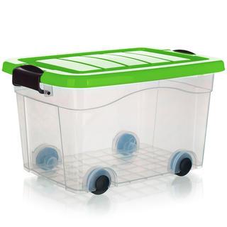 Box úložný na kolečkách PYRAMIDA, zelený