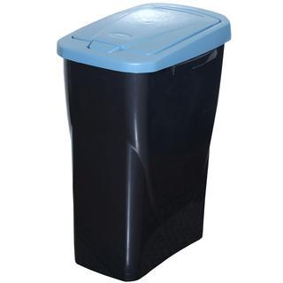 Koš na tříděný odpad modré víko 25 l