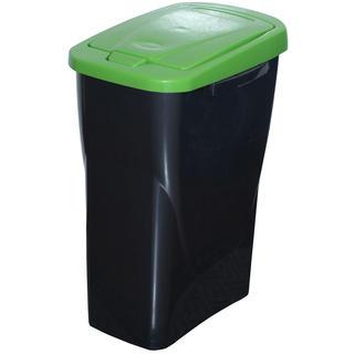 Koš na tříděný odpad zelené víko 25 l