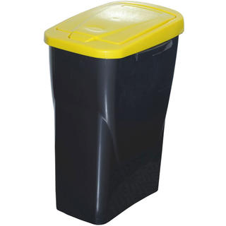 Koš na tříděný odpad žluté víko 25 l