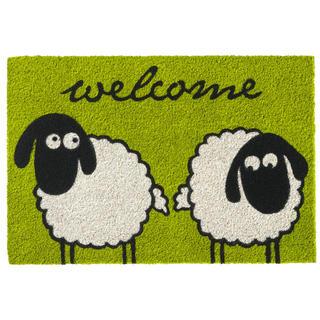 Rohožka z kokosového vlákna RUCO PRINT Sheeps Welcome