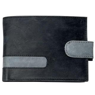 Pánská kožená peněženka černá