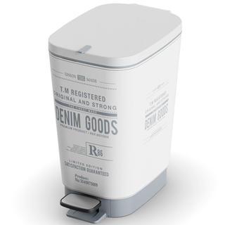 Plastový odpadkový koš do koupelny CHIC Denim S 10 l