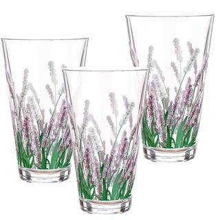 Sada 3 ks sklenic Lavender