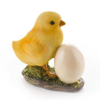 Zahradní dekorace - kuřátko s vajíčkem