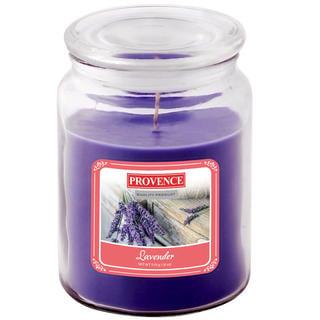 Svíčka ve skle s víčkem LEVANDULE