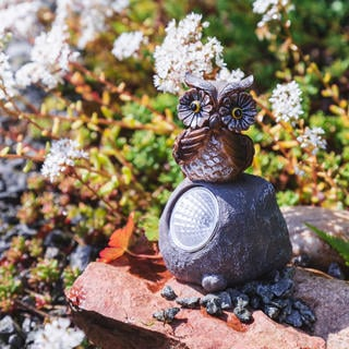 Solární zahradní dekorace - sova