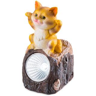 Solární zahradní dekorace - kočka