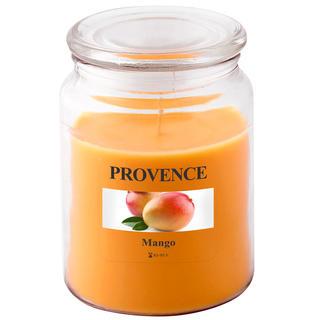 Svíčka ve skle s víčkem, mango