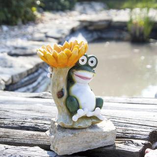Solární dekorace Krmítko žába