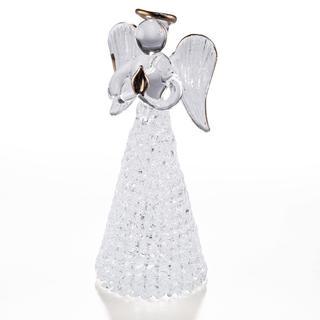 Skleněná andělka 12 cm