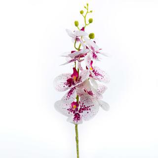 Umělá ORCHIDEJ výhon bílo - růžová 87 cm