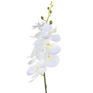Umělá ORCHIDEJ výhon bílá 87 cm