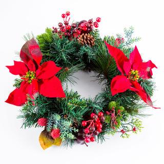 Umělý vánoční věnec JABLÍČKO 40 cm
