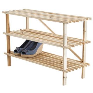 Dřevěný botník 3patrový