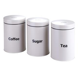 Plechové dózy na kávu, čaj a cukr béžové Klaus-berg