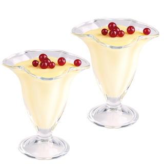 Sada skleněných pohárů na zmrzlinu 2 ks