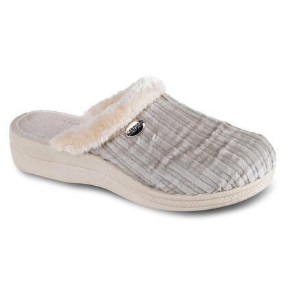Dámské pantofle s kožíškem béžové