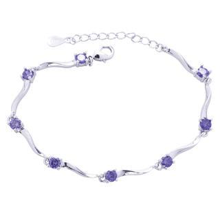 Náramek s fialovými krystaly